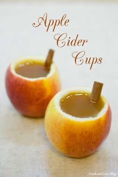 "Apple Cider Cups  ""cupple"" - apple cup   