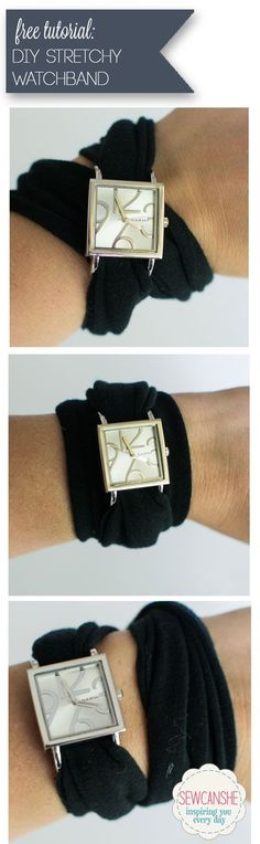 DIY Stretchy Watchband {easy tutorial} — SewCanShe   Free Daily Sewing Tutorials