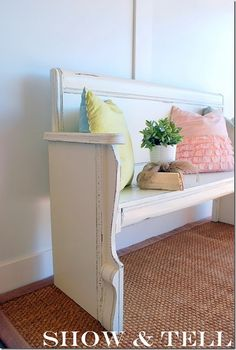 diy bench from headboard and footboard