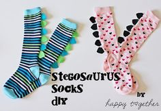 DIY Stegosaurus Socks DIY Socks DIY Clothes DIY Refashion