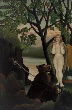 Henri Rousseau - Unpleasant Surprise (Mauvaise surprise)