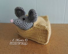Crochet Amigurumi Cheesy House Mouse  PATTERN by CrochetItBaby, $5.00