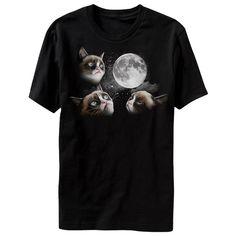 3 Grumpy Cat Moon T-shirt