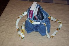 blue jean book bag