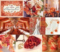 peach and orange wedding