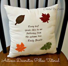 Autumn Decorative Pillows Tutorial
