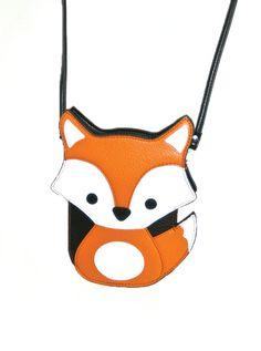 """Fox"" Cross Body Bag (Black/Orange) #InkedShop #fox #crossbody #bag #purse #style #fashion"
