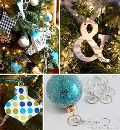 Semi-Homemade Christmas Ornaments by @Diane Henkler {InMyOwnStyle.com} #JustAddMichaels