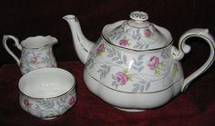 1 Royal Albert Conway Tea Pot C w Creamer and Sugar Bowl 2014 159   eBay