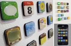 For all the app lovers out there...here is a great gift idea, office decor, or a fun fridge find. 18 pack of App shaped magents. Perfect for home, work, college, tech centers, only $5.99!