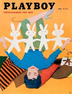 Playboy cover, April 1955.