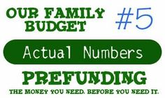 """How pre - funding your budget can make life less stressful. Also,  what we do with """"extra""""  money, or months my paychecks are lower."""