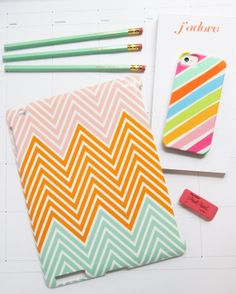 Custom Afghan Chevron collection iPad case for iPad Mini or iPad 2/3/4. Any 3 colors of your choosing!