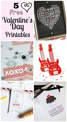 5 free printables for Valentine's Day from my blogging friends! See more party ideas at CatchMyParty.com. #freeprintables #valentinesday