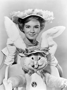 Angie Dickinson gets in the Easter spirit. #vintage #actresses #Easter