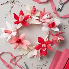 Make a Valentine's Day wreath with full instructions here.