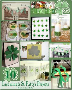 10 last minute St. Patty's Day Projects to Make - Liz on Call