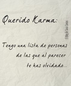 Querido Karma - El Blog de Sarai Llamas