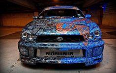 airbrush car, custom paint, air art, custom cars, beauti paintwithpearlcom, metal flake, car paintsart, automot paint, paint jobs on cars