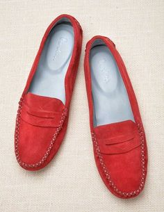 red loafers
