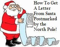 How to get a letter from Santa with a North Pole postmark