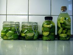 Pickled Walnuts | 100gr salt to 1L water for brine. See also here for spice blend that sounds nice: http://www.thefield.co.uk/food/recipes/how-to-pickle-walnuts-22906