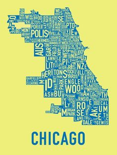 chicago thing, chicago bound, art, chicago neighborhoods, chicago chicago, poster, travel, place, citi