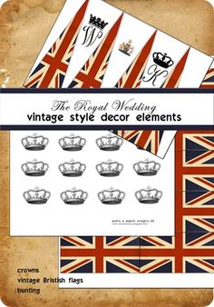 Royal wedding printables_web - could use for Queen's celebration too! Free printable