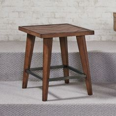 Hammary Boardwalk Rectangular End Table in Distressed Medium Brown - traditional - Side Tables And Accent Tables - Beyond Stores