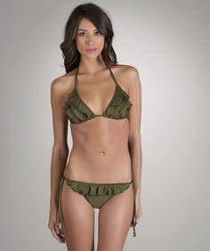 Ruffle Bikini-Womens Swimwear-Ella Moss Swimwear-Solid