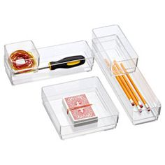 The Container Store > Stackable Acrylic Drawer Organizers $2.99