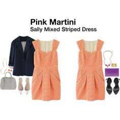 Pink Martini Sally Mixed Striped Dress