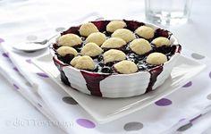 Blueberry Cobbler - vegan, low-fat, sugar-free