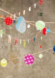 Confetti Bunting: Made from retro and recycled fabric.