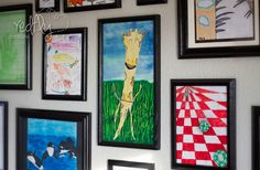 Our Family Art Gallery.  A great way to display your children's wonderful art!