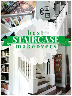 Best Staircase Makeovers on Remodelaholic.com
