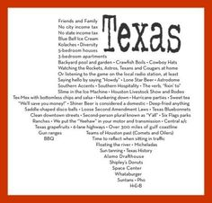 Texas --- The one and only!