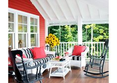 summery porch sunroom