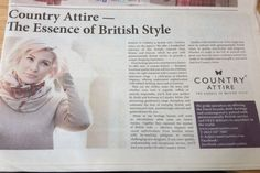 Country Attire featured in the Mail on Sunday's 'Best of British' editorial.