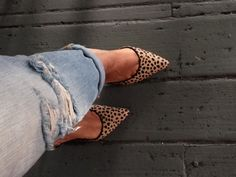 :: leopard + distressed denim ::