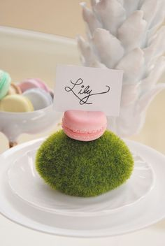 macaroon place card holder