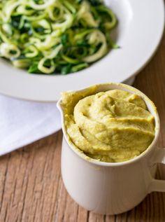 Zucchini Fettuccine and Cauliflower Alfredo | Lemons and Basil