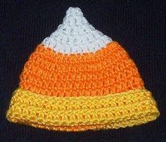 Crochet Candy Corn hat pattern