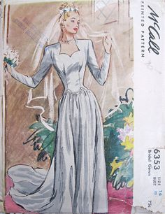 McCalls Bridal Gown Pattern