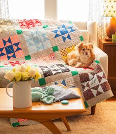 Use this tutorial to learn how to finish a vintage quilt top.
