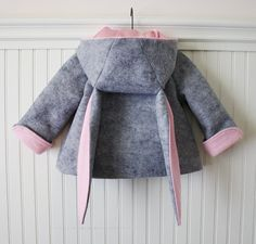 Honey Bunny Coat in Grey by littlegoodall on Etsy, $149.00