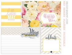 Free May Memory Planner Journal Cards from Heidi Swapp