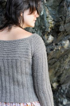 Knit pattern Waipi'o Cardigan by KristenTenDykeDesign on Etsy