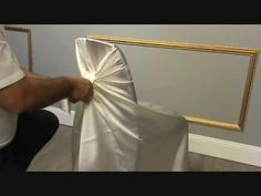 Chair cover tutorial for all of the DIY brides.