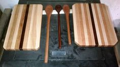 Hand-crafted Wooden Cutting Boards and Spoons from the Joe O'Woodshop.